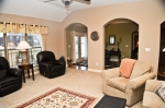 Large living room and open floor plan give this home a nice flow.